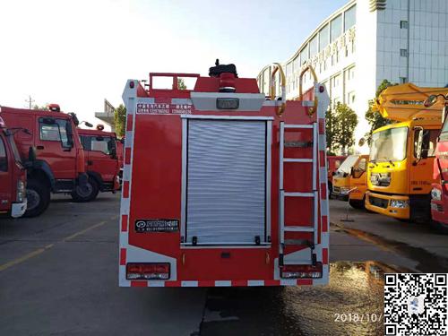 国五东风2吨水罐消防车